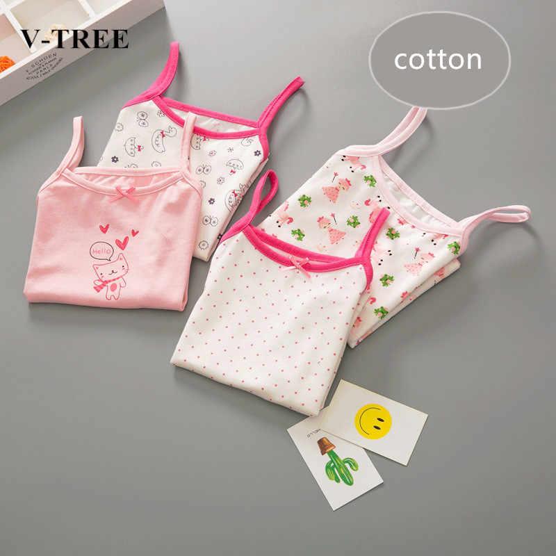Майки и майки для девочек, нижнее белье для маленьких девочек, детские летние топы