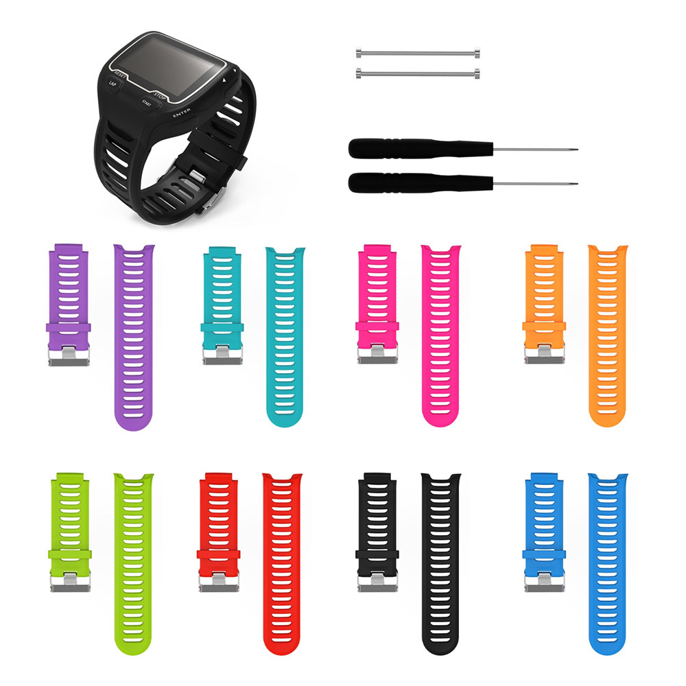 Silicone Watch Band Strap for Garmin Forerunner 910XT GPS Triathlon Running Swim Cycle Training Sports Watch wristband with tool image