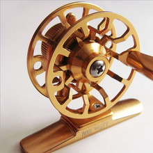 HI45R Fly Reels Super Light All Metal Front End Raft Winter Ice Fishing Line Roller CNC Fine Processing Workmanship high quality aluminum alloy processing 9 10 102mm gunsmoke color cnc fly fishing reels 2 1rb