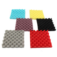 Zebra 10Pcs Set Drum Room Soundproof Foam Sound Absorption Treatment Panel Tile Wedge Protective Soft Sponge