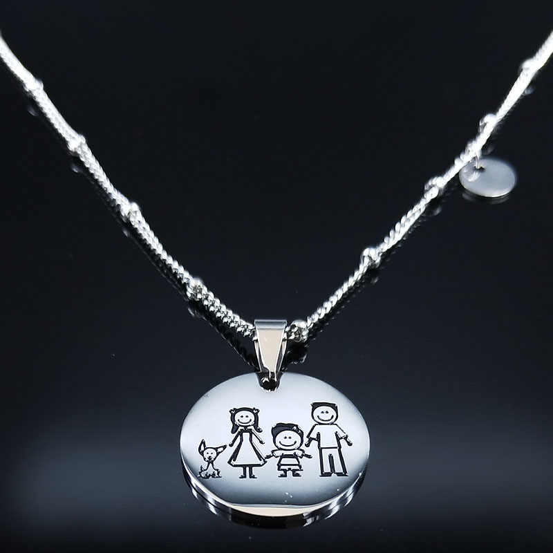 2019 JUNTAS SOMOS LA CANA Stainless Steel Best Friend Necklace for Women Silver Color Necklaces Pendants Jewelry collares N19198
