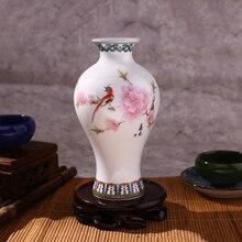 Традиционная китайская сине-белая фарфоровая керамическая ваза для цветов, сосуд, китайское украшение для дома в классическом стиле, декоративная ваза для дома