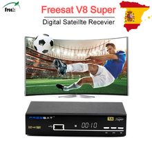 original Full 1080P Freesat V8 Super DVB-S2 Satellite Receiver support Germany Spain Europe Clines With USB Wifi set top tv box