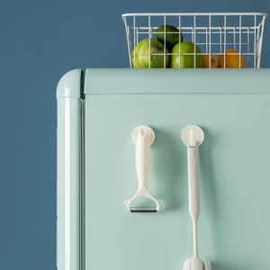 Image 3 - Jordan & Judy 4 pièces ABS aimant crochets cuisine réfrigérateur stockage cintre maison crochet suspendu sans trace