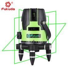 2018NEW Fukuda бренд 5 линий 400GJ лазерный уровень самонивелирующийся Горизонтальный Вертикальный крест лазерный измерительный прибор зеленый луч