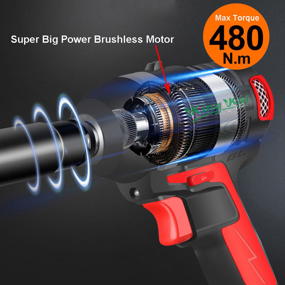 480NM Electric Cordless Lithium Battery Brushless Motor Impact Wrench-0 (13)