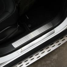For Mercedes Benz GL GLS X166 ML GLE W166 4pieces Car-Styling Door Sill Scuff Plate Welcome Pedal Trim Cover Sticker Accessories