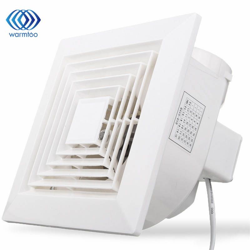 White 32W 220V Ventilation Extractor Exhaust Fan Blower Window Wall Kitchen Bathroom Toilet Fan Hole Size 160x160mm milton j paradise lost