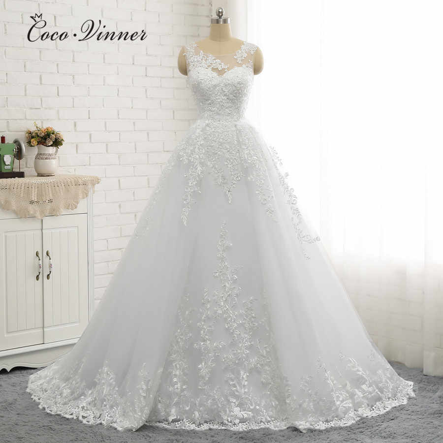 Большие размеры арабское свадебное платье русалки 2019 с Отделяемый подол вышивка бисером корт поезд винтажные Свадебные платья W0335