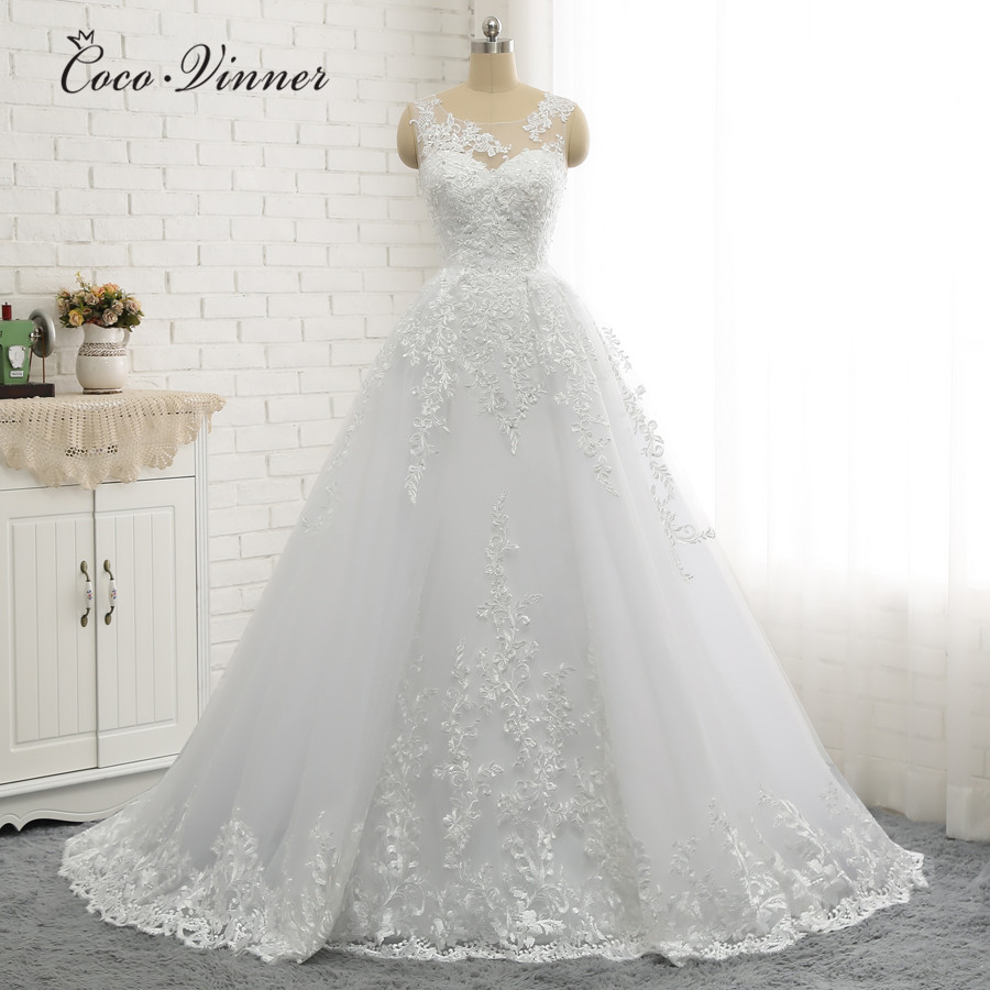 Wedding Dresses With Detachable Tail: C.V Plus Size Arab Mermaid Wedding Dress 2018 With