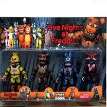 Cinco noites no freddy figura de ação brinquedo fnaf urso de pelúcia freddy fazbear anime figuras freddy brinquedos para o dia das crianças presente