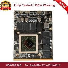 "HD 6970M HD6970 HD6970m 2GB VGA Видео Видеокарта для Apple iMac 2"" mid 2011 Radeon A1311 A1312 109-C29657-10 рабочая"
