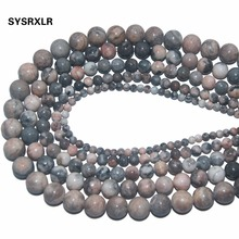 Wholesale Wholesale Pink Zebra Natural Stone Round Beads for Jewelry Making DIY  Bracelet Necklace 4 6 8 10 12 MM Strand 15 ''