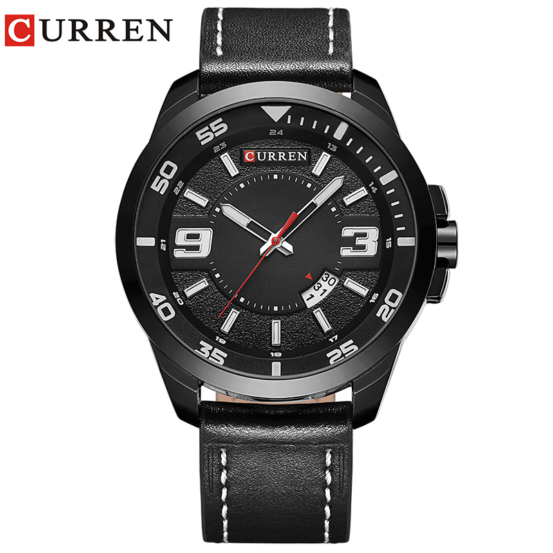 Curren luxury brand quartz watch Casual Fashion Leather watches reloj masculino men watch free shipping Sports Watches 8213 old antique bronze doctor who theme quartz pendant pocket watch with chain necklace free shipping