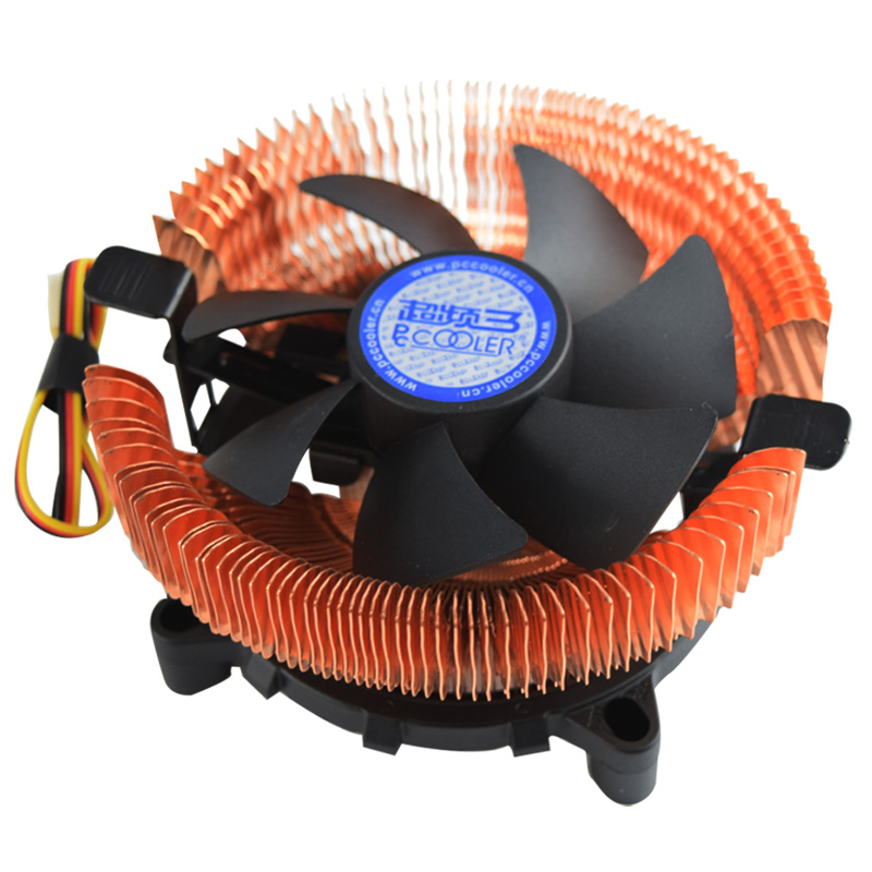 PCcooler E98 CPU Cooler 80mm fan Pure copper radiator AMD AM2 AM2+ AM3 FM1 Intel LGA1366 775 1151 1150 1155 1156 cpu radiator 5pcs lot pure copper broken groove memory mos radiator fin raspberry pi chip notebook radiator 14 14 4 0mm copper heatsink