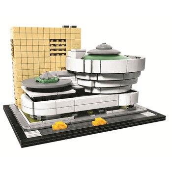 Pogo Compatible Legoe BELA 10679 744PCS+ Landmark Building Solomon Guggenheim Museum Buidling Blocks Bricks Toys 21035 lego
