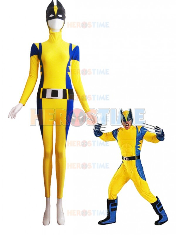2015 Newest Spandex X-Men Superhero Costume hot sale halloween fullbody cosplay party X-Men show zentai suit