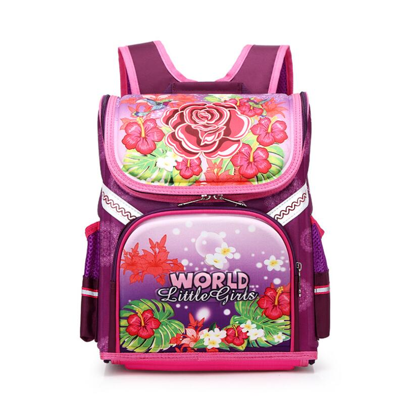 Russian Kid School Backpack Bag Orthopedic School Bag For Girls School Mochila For Primary School Shoulder Backpack For Child