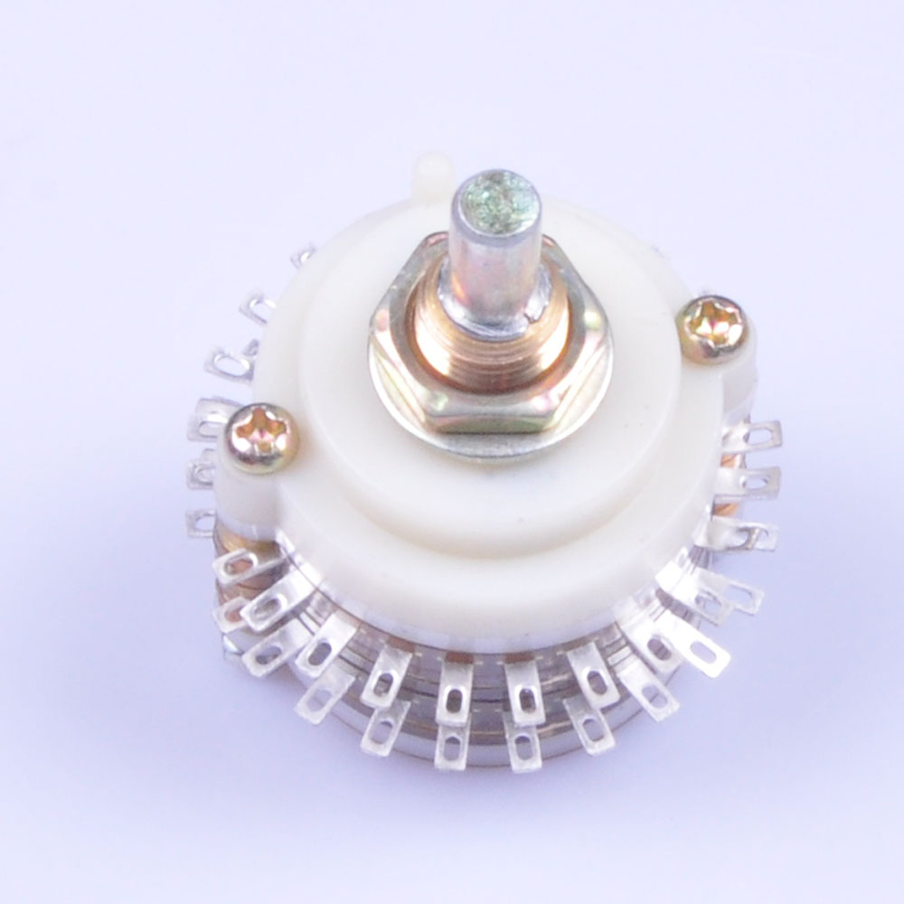 1pc DIY 2Pole 23Step 2x23 Rotary Switch Attenuator Volume Control Potentiometer Pot in Electrical Plug from Consumer Electronics