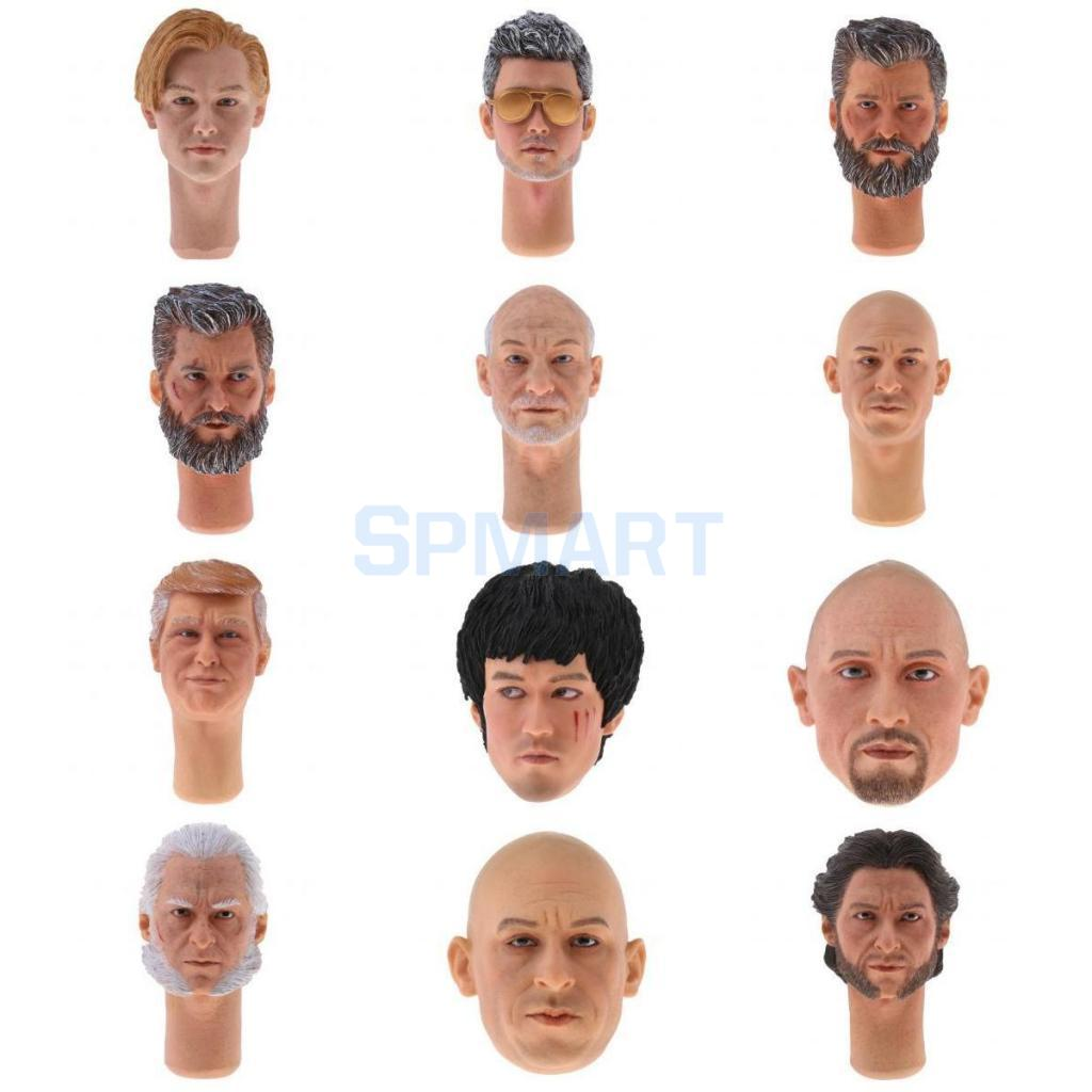 1:6 Scale Famous Stars Head Sculpt for 12'' Hot Toys Sideshow Kumik Action Figure Body Parts Accessories 1 6 head sculpt carving model kumik 16 18 hot sideshow toys ttl enterbay custom male man fit 12 ph action figure doll toy body