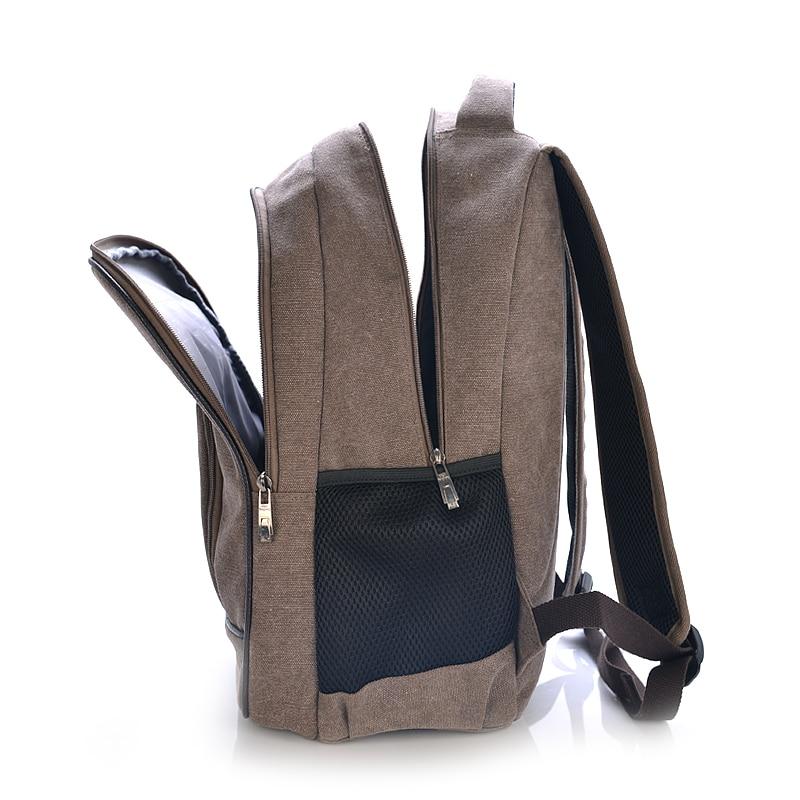2018 Fashion Mens Backpack Canvas Travel Bag Casual Men Laptop Backpack Bag 14 Inch Large Travel Backpack Men School Bag 1149