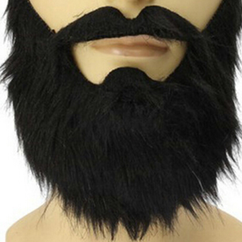 fashion funny costume carnivals halloween party male man halloween beard facial hair disguise game black fake - Halloween Fashion Games