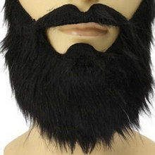 Fashion Funny Costume carnivals Halloween Party Mask Male Man Halloween Beard Facial Hair Disguise Game Black Fake Mustache(China)