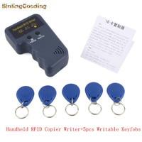 Handheld 125KHz RFID Copier Writer RFID Duplicator 5 Pcs EM4305 T5577 CET5200 Rewritable Keyfobs Pub Apartment