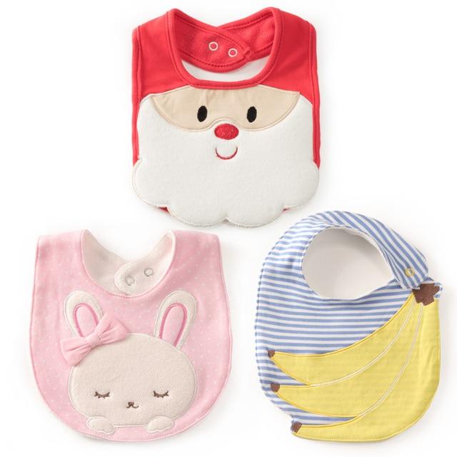 fc634d5087d84 Christmas Baby Bibs Cotton baberos Santa claus bavoir Saliva Towel for boys  girls babero slabbetjes babadores