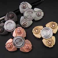 4 Color Metal Two Spinner Fidget Toy Stainless Steel EDC Hand Spinner Rotation Time Long Anti