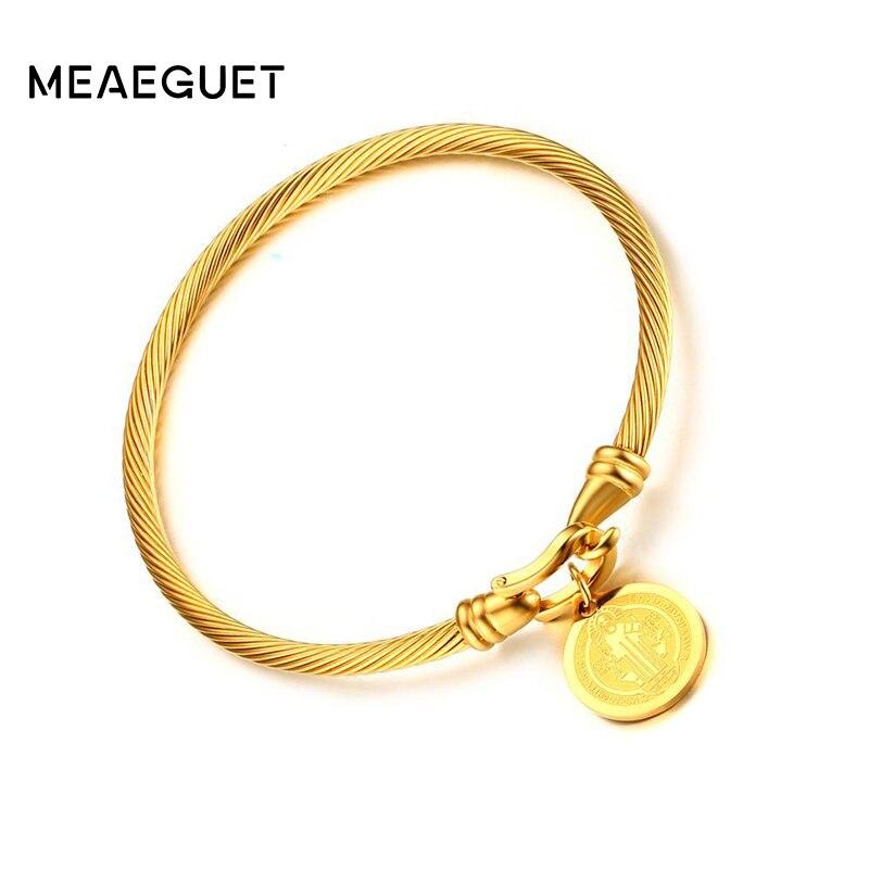 Meaeguet Gold-farbe Heiligen Benedikt Medaille Manschette Charme ...