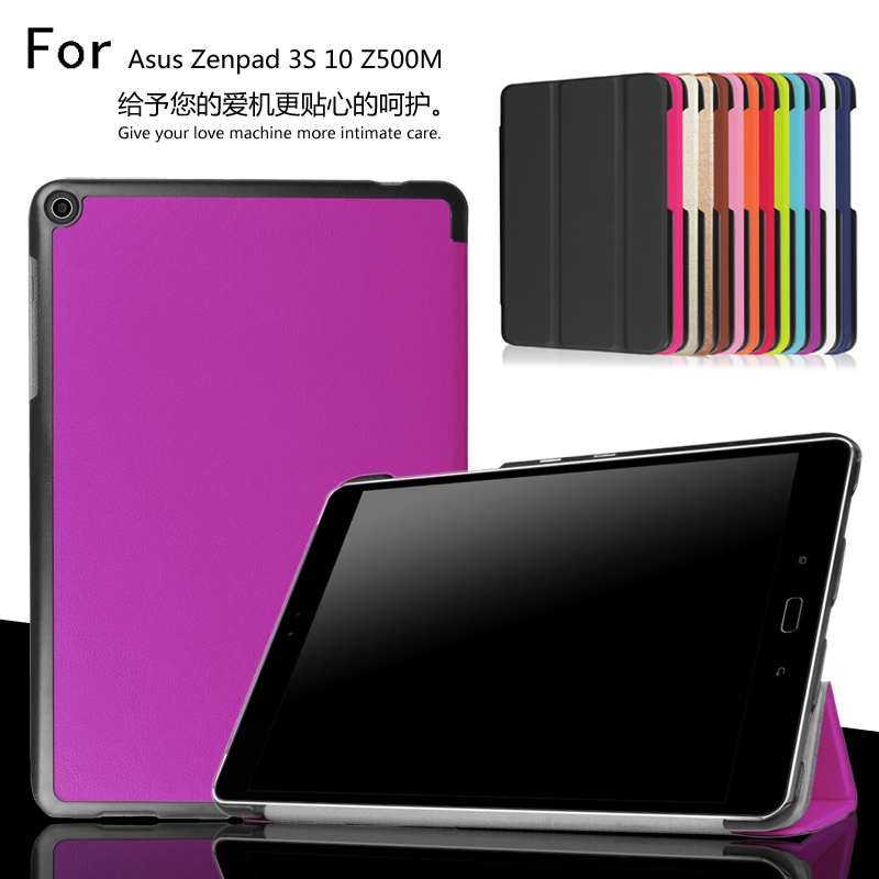 Smart slim PU stand cover case For Asus Zenpad 3S 10 Z500M Z500 9.7 inch Tablet protective leather skin asus zenpad 3s 10 z500m tablet pc