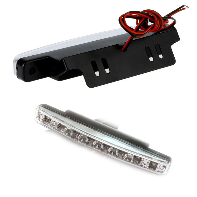 Car-styling 2017 New 1PCS Car-detector Waterproof 12V LED DRL Daytime Driving Light 8 Car Fog Lamp White Light Car Styling