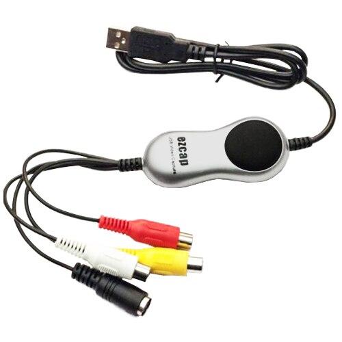 Ezcap USB 2.0 HD de captura de vídeo TV DVD VHS DVR adaptador conversión analógico digital video audio para Ventanas 10 8.1 7
