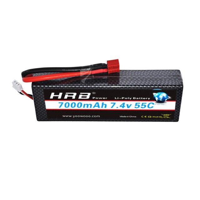HRB 2S 7.4V 7000mAh 55C Hardcase Lipo