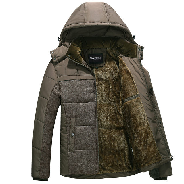 ccdfedc95 2018 new Brand winter warm Jacket for men hooded coats casual mens thick coat  male slim casual cotton padded casual warm