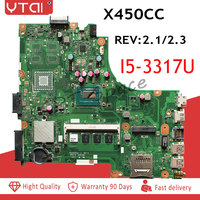 I5 3317U CPU X450CC motherboard for ASUS X450CC X450C X450 Laptop motherboard REV 2.3/2.1 2GB RAM 100% tested intact