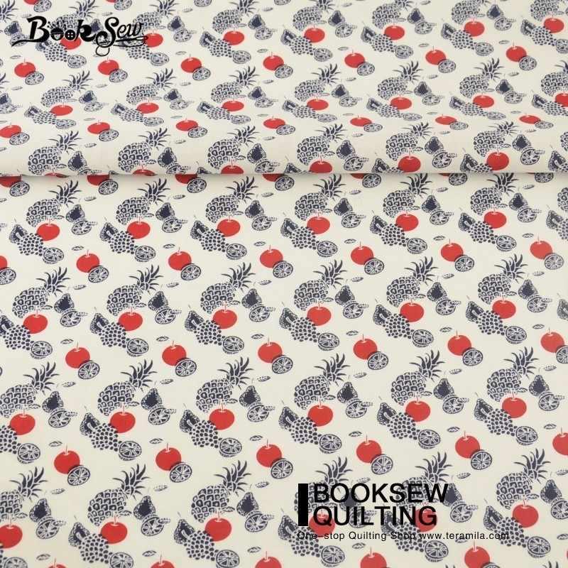 Книжное Шитье Хлопок Поплин Ткань белая детская кровать простыни платье лоскутное различные фрукты постельные принадлежности украшение дома ремесла рубашка