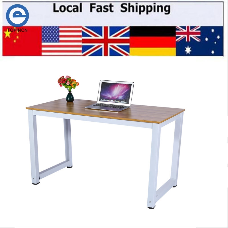 US $60.88 12% OFF|Modern Wooden & Metal Computer PC Home Office Desk Table  Functional Study Table New-in Laptop Desks from Furniture on AliExpress