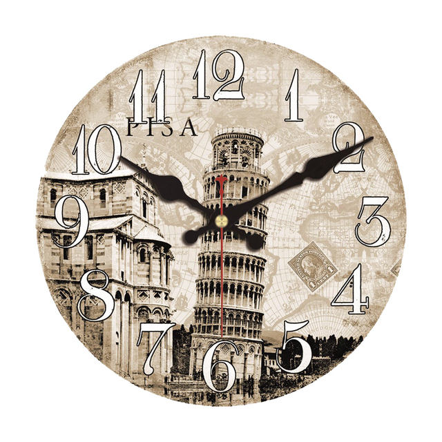 Jam Dinding Paris Menara Bangunan Desain Relogio De Parede Besar Diam Untuk Ruang Tamu Dekorasi