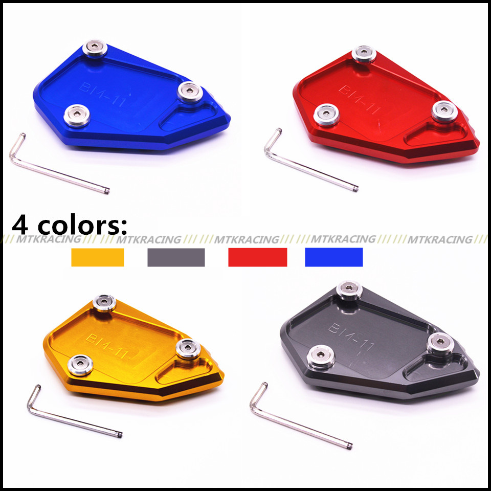 MTKRACING For BMW R1200 GS r1200gs 2008-2012  2008-2012 Motorcycle CNC Aluminum Side Stand Enlarge Extension Plate Pad new motorcycle kickstand foot side stand enlarge extension pad support plate for bmw r 1200 gs 2008 2012 r 1200 adv 2008 2012