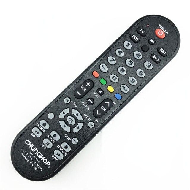 RM 436E 4 в 1 умный универсальный пульт дистанционного управления Многофункциональное управление Лер для ТВ AUX HOM DVD Sat функция обучения
