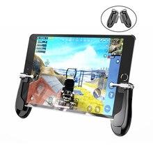 PUBG FPS 게임 게임 패드 컨트롤러 L1R1 트리거 화재 버튼 조준 조이스틱 범용 게임 핸들 iPad 미니 5 공기 태블릿