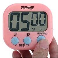 1Pcs Kitchen Timer Alarm Clock LED Digital Household Utensil Kitchen Desk Hotel Counter Reception Plastic Kitchenware