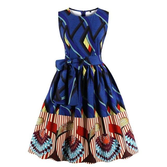 449b3a5e7e37 Mujer Africana elegante Dashiki indio étnico vestido Plus tamaño de corbata  Vintage Boho bohemio