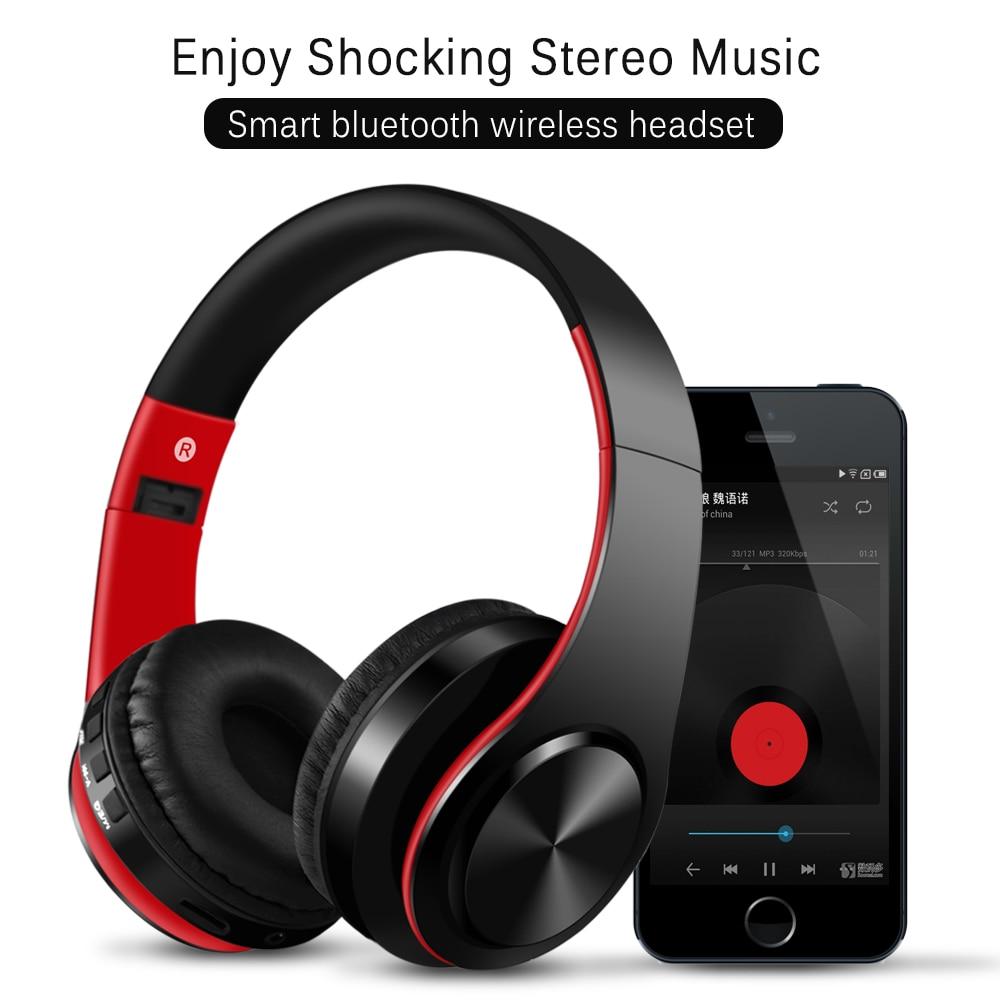 YEINDBOO Bluetooth Wireless Headphones PC Phone Music Earphone Foldable Head Earphones With Microphone For PC Phone Mp3