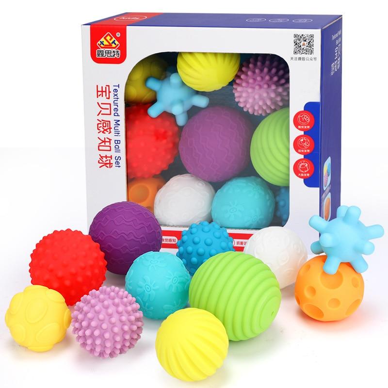 6-11 pièces Texturé Multi jeu de boules développer bébé tactile sens jouet tactile main Formation balle molle Améliorer enfants la capacité pratique