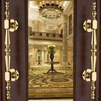 Европейский однотонные золотистые деревянные двери купе дверная ручка ящик шкафа ручки Аппаратные средства Дизайн
