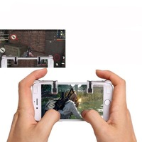 1Pair Left/Right PUBG V5.0 Gaming Trigger Fire Button Aim Key L1 R1 Shooter Controller Smart Phone Knives out Rules of Survival
