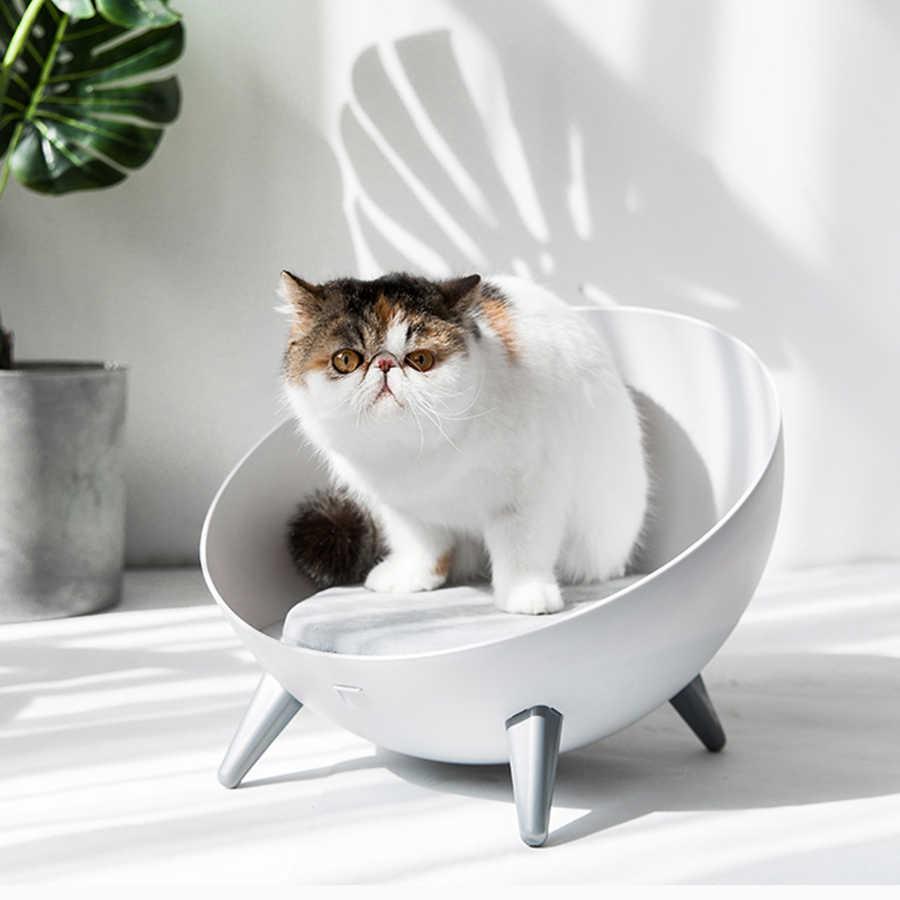 גדול מיטה לחיות מחמד כלבי חתול מיטת בית חם קטן עגול חתול בית מושב חתול מיטות המלטת גאטוס Productos Para Mascotas פלסטיק מיטת 50MW14